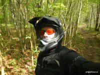 Selfie am Waldweg